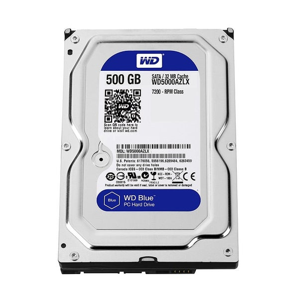 "Western Digital Blue Wd5000azlx 500Gb 3.5"" Desktop Internal Hard Drive 7200 Rpm Sata 6Gbps 64Mb Cache"