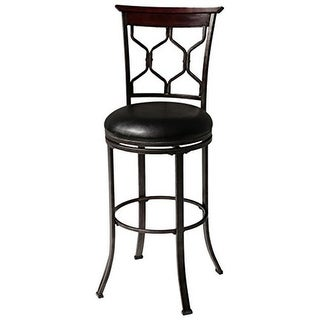 30 in. Tallahassee Metal Barstool with Black Upholstered
