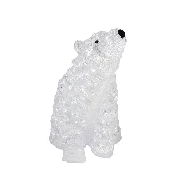 "18"" Lit Commercial Grade Acrylic Polar Bear Christmas Display Decoration"