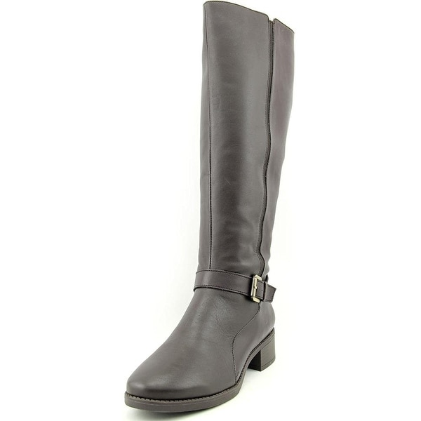 Easy Spirit Womens NADETTE Leather Round Toe Mid-Calf Riding Boots