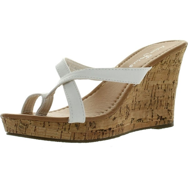 Fashion Focus Alicia-13 Womens Slipper Wedge Sandal