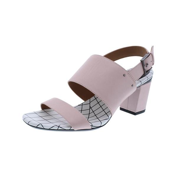 Calvin Klein Womens Corina Dress Sandals Leather Open Toe