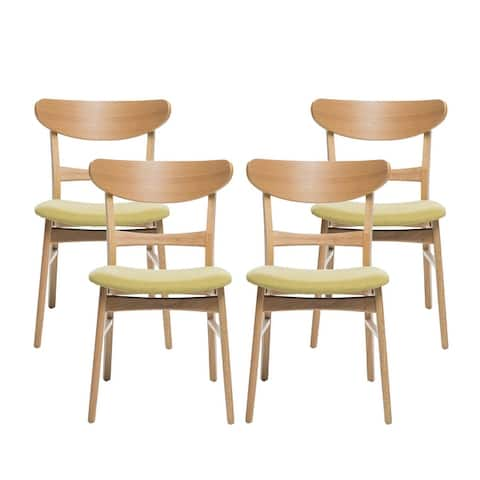 Idalia Mid-Century Modern Dining Chairs (Set of 4) by Christopher Knight Home