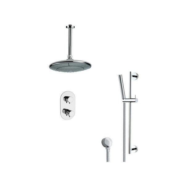 Nameeks Sfr7406 Remer 2 5 Gpm Single Function Rain Shower Head With Handshower Slide Bar And