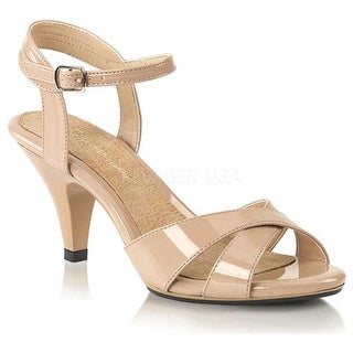Fabulicious Women's Belle 315 Ankle-Strap Sandal Nude Patent/Nude