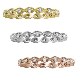 Link to 10K Gold 1/4ct TDW Diamond Vintage Eternity Band Ring by Beverly Hills Charm Similar Items in Wedding Rings