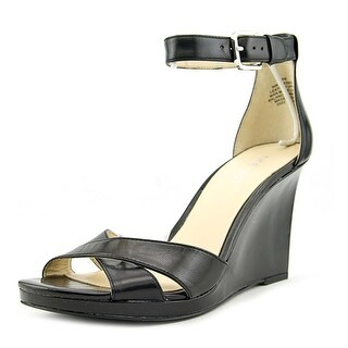 Nine West Medano Open Toe Leather Wedge Heel