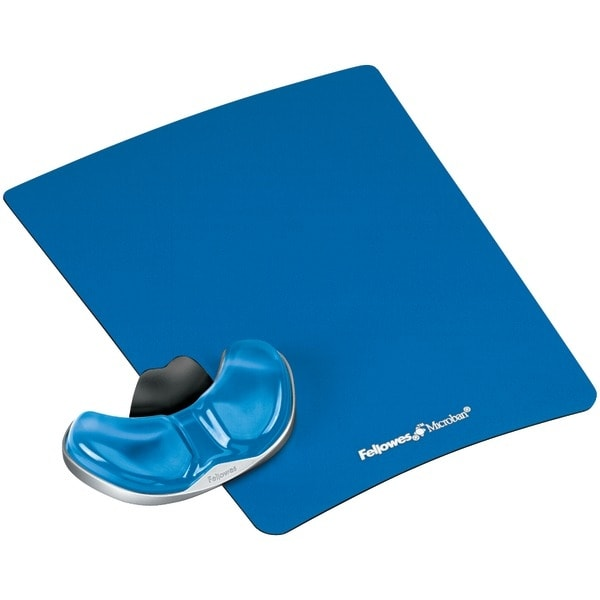 Fellowes 9180601 Gliding Palm Support With Microban(R) Protection (Blue)