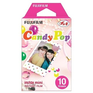Fujifilm 16321418 Instax Mini Film Pack Candy Pop Multicolored