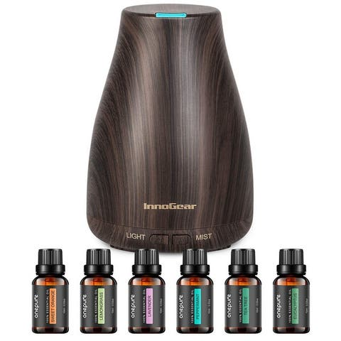 Essential Oil Diffuser with Oils Aroma Cool Mist Humidifier Gift Set