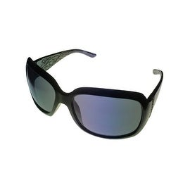 Ellen Tracy Womens Sunglass 505 1 Black Rectangle Plastic, Smoke Lens