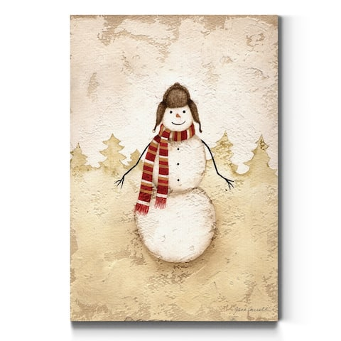 Snowman-Premium Gallery Wrapped Canvas - Ready to Hang