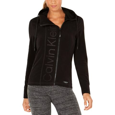 Calvin Klein Performance Womens Hoodie Fleece Asymmetric