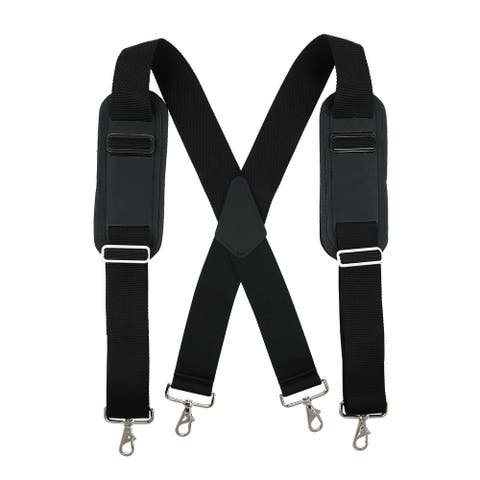 CTM® Men's Big & Tall Padded Work Suspenders with Metal Swivel Hook End - one size