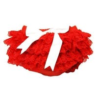 Baby Girls Red Lace Cotton Adorable Bloomers 0-36 Months
