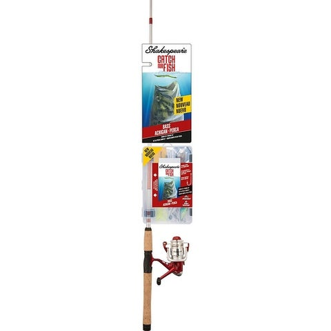 Shakespeare Catch More Fish Fishing Rod and Reel Spinning Combo (Bass)