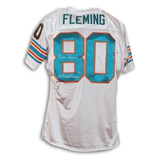 "Marv Fleming Miami Dolphins White Throwback Jersey Inscribed ""The Perfect Season"""