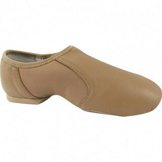 Tan Leather Neoprene Wrap Split-Sole Design Slip-On Jazz Shoes 5-11 Womens