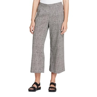 Eileen Fisher Womens Wide Leg Pants Printed Organic Cotton