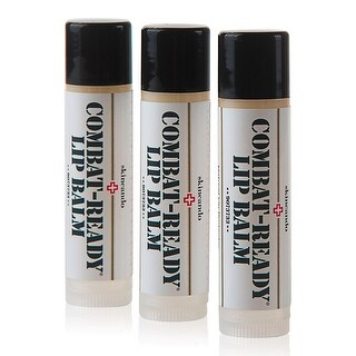 Combat Ready Lip Balm by Skincando 0.15oz - 3 Pack