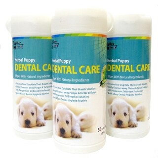 Alpha Dog Series - Dental Care Wipes 50ct (Pack of 3)