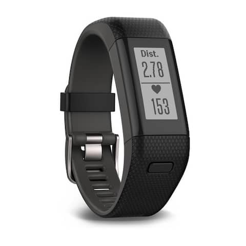 Garmin vivosmart HR Plus - (Black) vivosmart HR Plus Black Shark Fin Gray