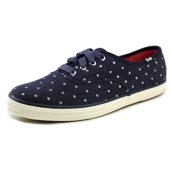 Keds CH TS Glitter Dot Women Round Toe Canvas Blue Sneakers