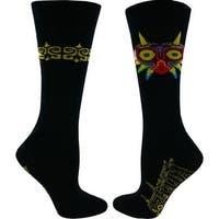 Legend of Zelda Majora's Mask Men's Black Crew Socks