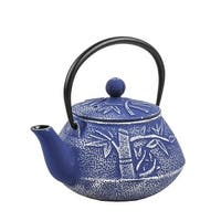 Spigo Yamanashi Cast Iron Enamel Infuser Teapot, Blue, 30 Ounces