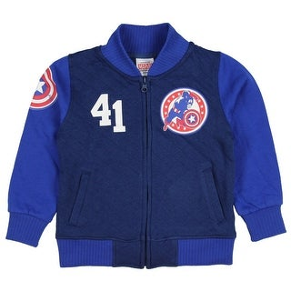 Marvel Captain America Toddler Little Boys' Varsity Sweater Jacket