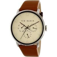 Ted Baker Men's Dress Sport  Brown Leather Analog Quartz Dress Watch
