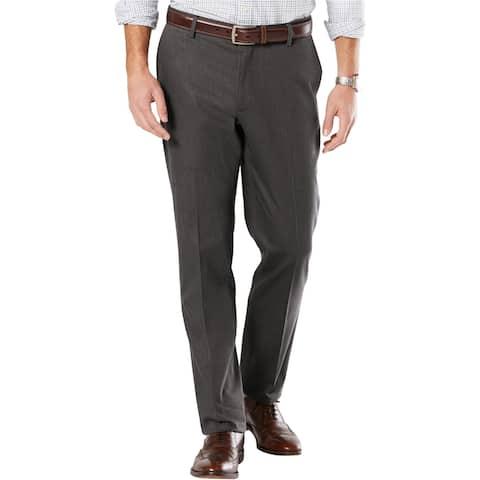 Dockers Mens Signature khaki Dress Pants Slacks, Grey, 36W x 34L