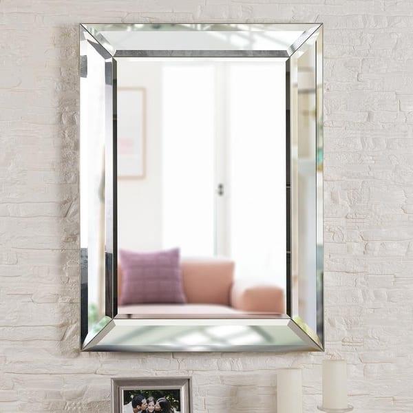 Nolan 40 Inch Rectangular Beveled Wall Mirror 30 X 40 On Sale Overstock 22082093