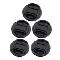 5pcs Plastic Snap Digital Camera Clip-on 49mm Center Pinch Front Lens Cap Cover