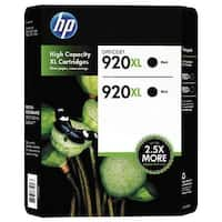 HP 920XL Black 2-Pack High Yield Cartridges CN701BN