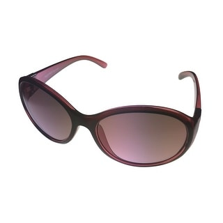Ellen Tracy Womens Sunglass 538 3 Burgundy Crystal Round Plastic, Gradient Lens - byurgundy crystal - Medium