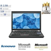 "Lenovo ThinkPad X220 Intel Core i5, 4GB, 320GB 12.5"" HD Display, Win 10 Laptop - Black"