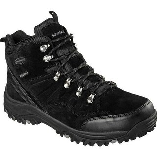 Skechers Men's Relaxed Fit Relment Pelmo Hiking Boot Black
