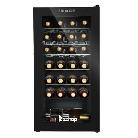 28-Bottle Compressor Wine Cooler with Digital Touchscreen