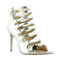 Katy Perry Womens The Stella Silver Sandals Size 7.5