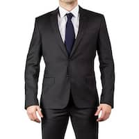 Luciano Barbera Club Men's Two Button Wool Suit Graphite Grey