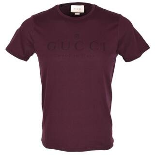 Gucci Men's 441685 Burgundy Red Cotton Trademark Logo SLIM FIT T Shirt M|https://ak1.ostkcdn.com/images/products/is/images/direct/fcbfef45d7bfaabf5157558dbcf6e22744f49b3d/Gucci-Men%27s-441685-Burgundy-Red-Cotton-Trademark-Logo-SLIM-FIT-T-Shirt-M.jpg?impolicy=medium