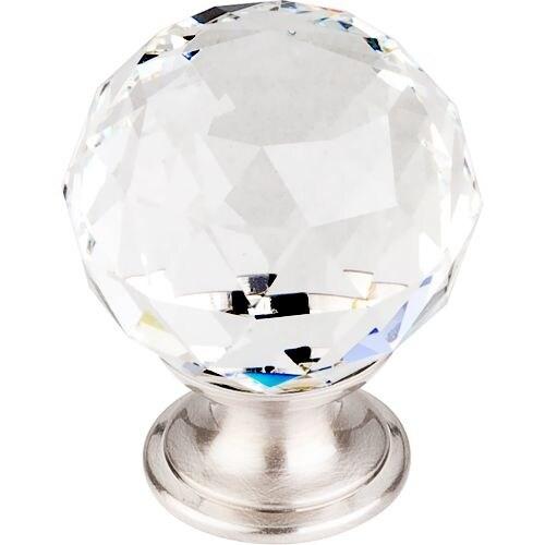 Top Knobs TK126 Crystal 1-3/8 Inch Diameter Round Cabinet Knob
