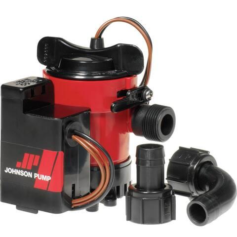 Johnson Pump 38961M JOHNSON PUMP 750GPH AUTO BILGE PUMP 3/4 Inch HOSE MAG SWITCH 12V - Black