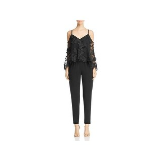 Kobi Halperin Womens Monique Jumpsuit Popover Embroidered