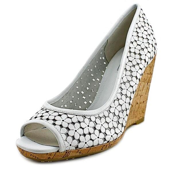 Dune London Cassie Women  Open Toe Leather White Wedge Sandal