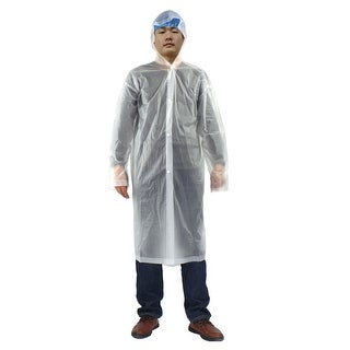 Clear One Size Adult Disposable Thicken PVC Hooded Raincoat Poncho for Travel