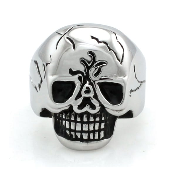 Stainless Steel Biker Skull Ring
