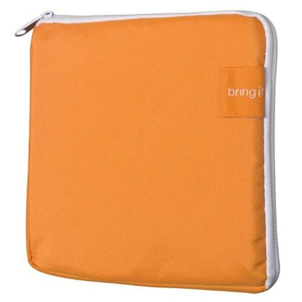 """Bring it Reusable Bags Sandwich Bag 7"""" x 7"""" x 1"""", Orange"""