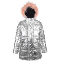 d2912c9dc487 Shop Urban Republic Little Girls White Fur Trim Belted Hooded Puffer ...